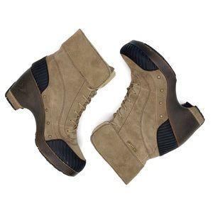 Jambu Netherlands brushed mocha suede ankle boots